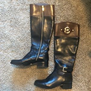 Michael Kors genuine leather riding boots